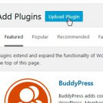 Click on the upload plugin