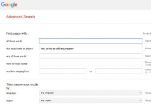 advanced search page