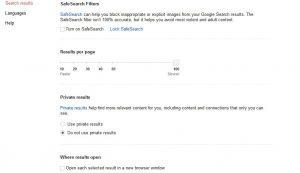google search setup