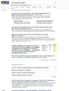 what is keyword competition : page 1 of google