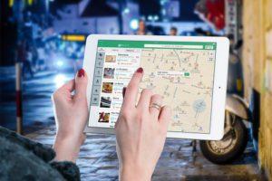 app open on tablet