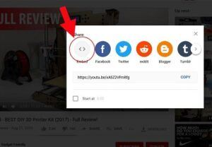 youtube embed button
