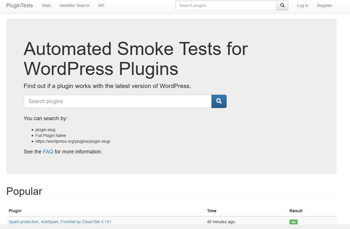 testing your wordpress plugins is a good idea nad this site plugintest is one to use